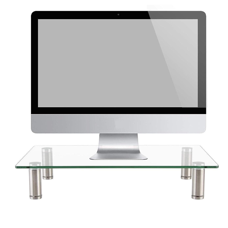 适用于电脑、笔记本电脑、打印机、笔记本电脑和全平板显示器的显示器支架支架,带通风金属平台,10.16 厘米高的下存储器 1 Pack