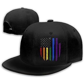 Gay Pride LGBT Rainbow Snapback Mens Womens Kids Unisex Baseball Cap Hat Parade