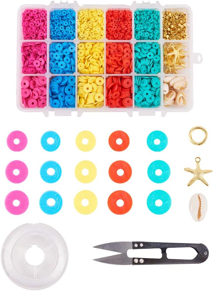 SiTey 1 Box DIY Jewelry Making Beads Clay Polymer Kit Mixed with Alternative dealer Same day shipping