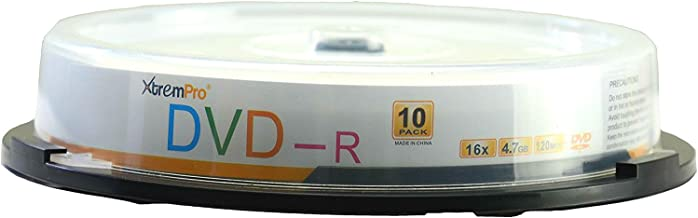 XtremPro DVD-R 16X 4.7GB 120Min DVD 10 Pack Blank Discs in Spindle - 11029