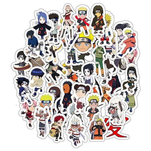 SGOT Anime Aufkleber, Wasserdicht Vinyl Stickers, Anime Decals für Auto Motorräder Gepäck Skateboard Laptop, Große Sammlung von Japanischen Anime(50 STK Naruto)