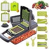 Cortador de mandolina y rallador de verduras 8 en 1, rallador de queso y patata, cortador de cebolla con contenedor