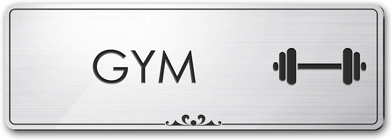 Popular overseas Gym Excellent - Laser Engraved Sign Silver .050 Brushed 3