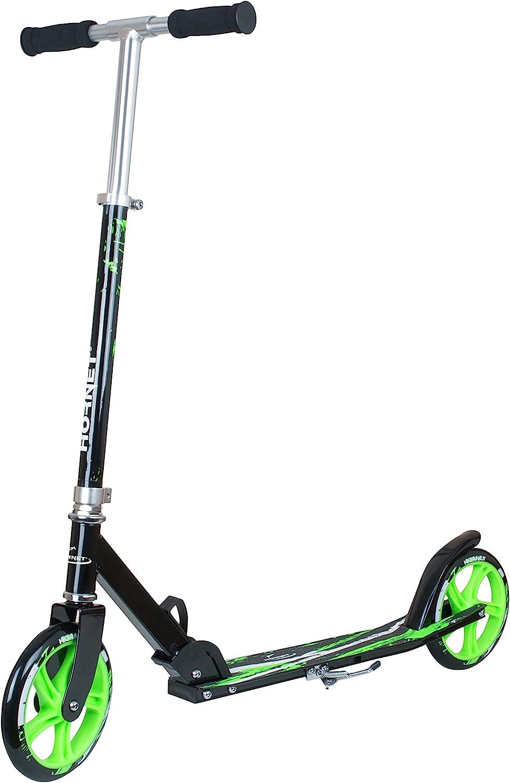 Hornet 14929 - Scooter Poliuretano, color Negro/ Verde