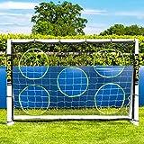 Lona de Entrenamiento de Fútbol | Equipamiento de Entrenamiento Indispensable (No Se Incluye Postes) [Net World Sports] (1,8m x 1,2m)