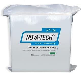 High-Tech Conversions NT1-66 NOVA-TECH Lint Free Nonwoven Cleanroom Wipe, 6