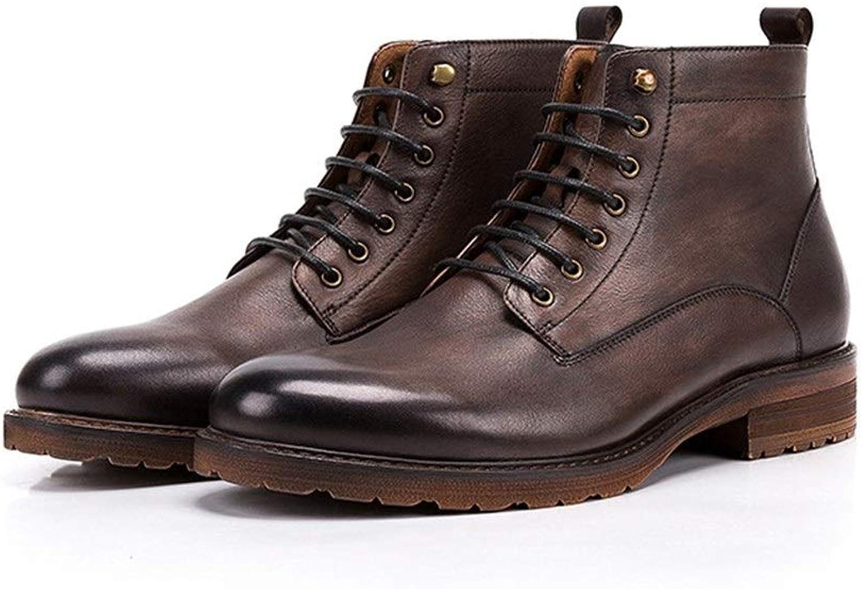 Handgefertigte Herbst- und Winterschuhe für Mnner Hohe Schuhe für Herren Casual Retro-Spitze Herrenschuhe Oxford Dress schuhe,Grille Schuhe (Farbe   Coffee, Größe   41-EU)