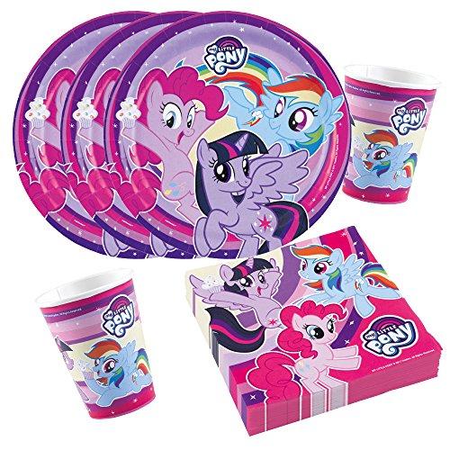Unbekannt 36-teiliges Party-Set My Little Pony 2017 - Teller Becher Servietten für 8 Kinder