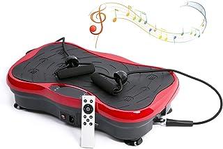 GLxlsbz Plataforma Vibratoria de Fitness, Bluetooth Música Externa Mute Wholebody Massager de Cuerpo Entero Máquina de Vibración con Control Remoto y Bandas de Resistencia