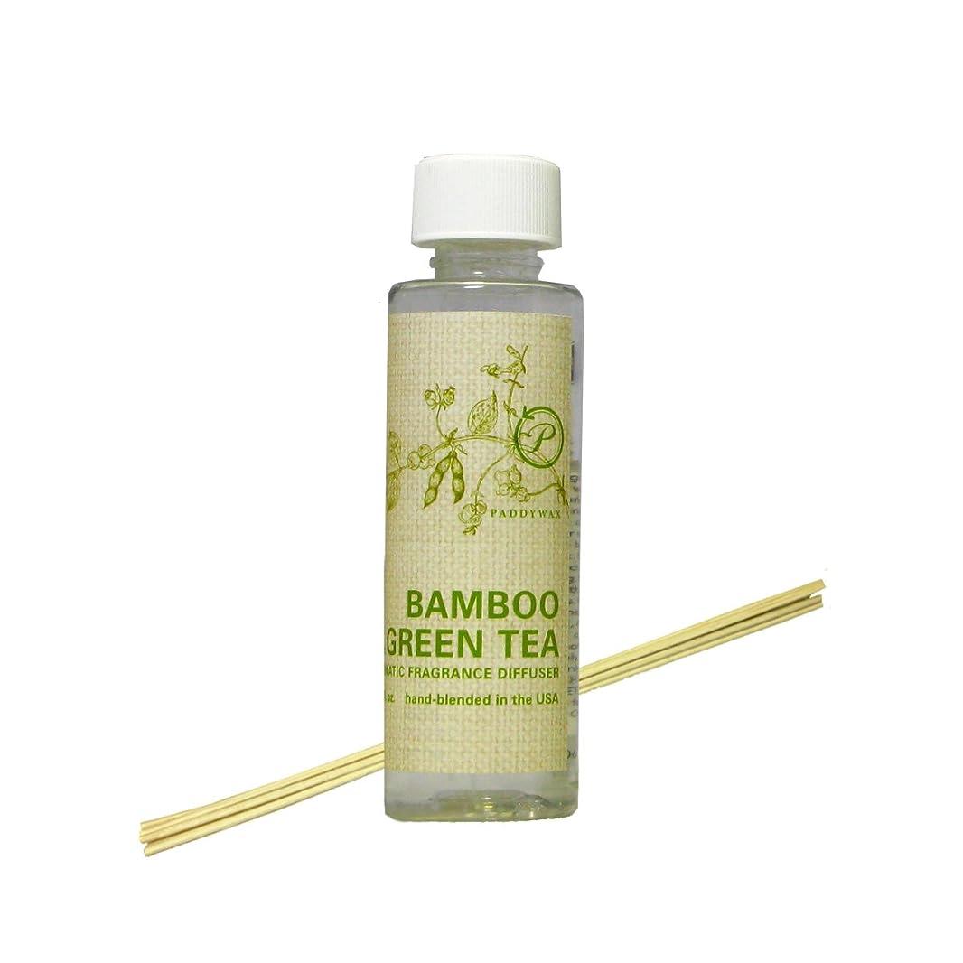 ダンスやりすぎ乱雑なPADDYWAX エコ グリーン リード ディフューザー リフィル BAMBOO and GREEN TEA(スティック付)