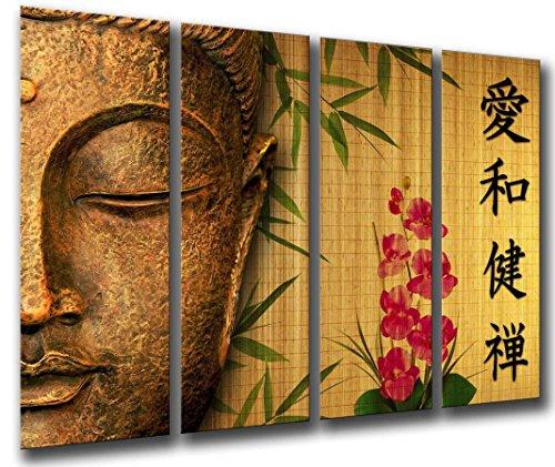 Cuadro Fotográfico Buda, Buddha, Relajacion, Zen, Meditacion, Relax Tamaño total: 131 x 62 cm XXL
