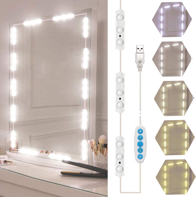 Bande Lumineuse de Miroir USB Barre Lumineuse de Coiffeuse de Style Hollywoodien Lumi/ère de Module de Maquillage LED Ampoule de Miroir de Maquillage Bricolage