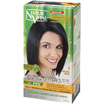 Permanent Hair Dye,Permanent Hair Color. Coloursafe, No Ammonia,Resorcinol,Parabens, or PDD. (~1 Black Hair)