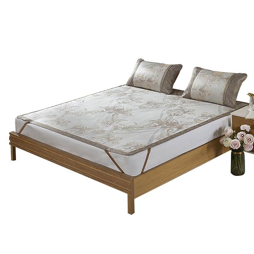 ピュー仲間、同僚簡略化する籐のマットレス氷シルクジャカードマットスリーピースの折りたたみ式寮のホーム寝具 (サイズ さいず : 6FT)