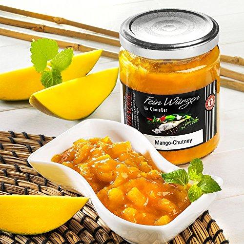 Mango Chutney - Würzsauce - mit Mango, Zwiebeln, Äpfeln, Curry (200ml)