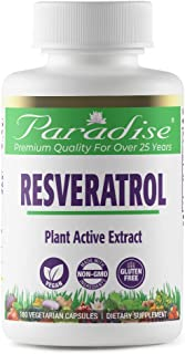 Paradise Resveratrol - Plant Active Extract - 20% Trans Resveratrol from Polygonatum cuspidatum - 100% Naturally Concentra...