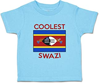 Custom Baby & Toddler T-Shirt Coolest Swazi Cotton Boy Girl Clothes