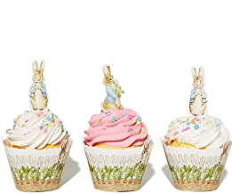 Peter Rabbit Cupcake Decoration - Party Supplies and Baby Shower Essentials - Set of 24 Pieces Cupcake Topper and 24 Pieces Cupcake Wrapper - Good for 24 Cupcakes