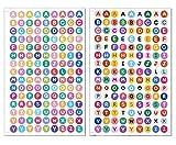 Asian 108 Markets A-Z Letter 5+5 Sheets Colorful Alphabet Vinyl Sticker Decorative Scrapbook for Hydroflasks Bottles Notebook Laptop Computer (Each Letter 0.5 Inches High) STK-PVC-10-ABC