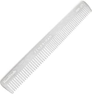 Fendrihan Sturdy Metal Double Tooth Barber Grooming and Dressing Comb (6.8 Inches)