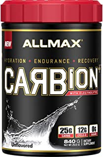 ALLMAX Nutrition CARBion+ with Electrolytes + Hydration, Gluten-Free + Vegan Certified, Unflavored, 30 Servings, 870 Grams
