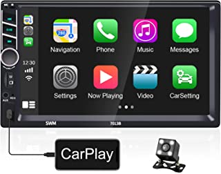 $89 » Hikity Car Stereo with Apple Carplay Double Din Stereo with Bluetooth/FM, 7 Inch Touch Screen Car Radios with Backup Camer...