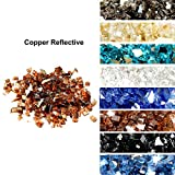 Skyflame High Luster 10-Pound Fire Glass for Fire Pit Fireplace Landscaping, 1/2-Inch Copper Reflective