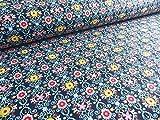 Qualitativ hochwertiger Jersey Soff mit bunten Blumen auf