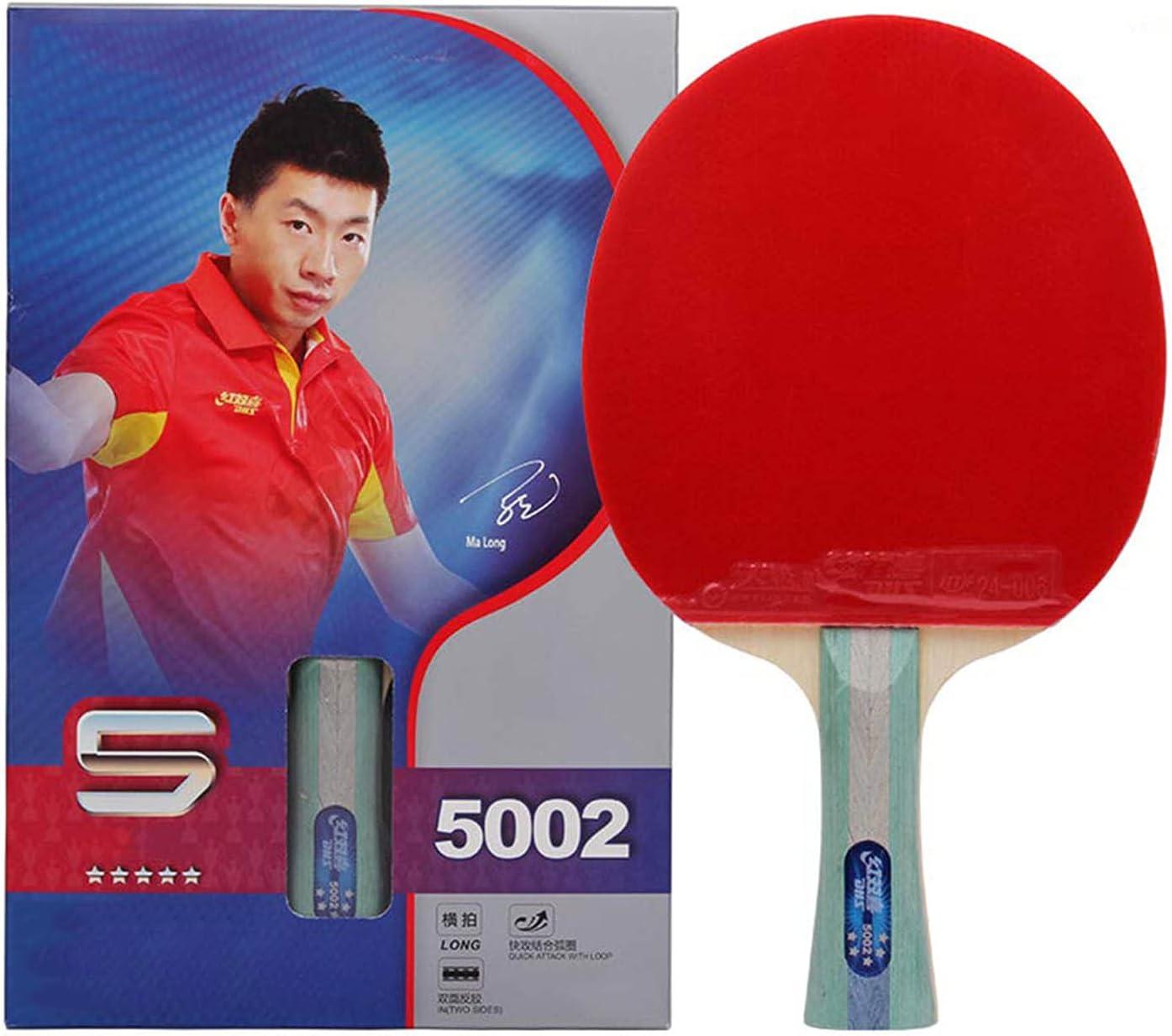 HHXD Juego de Raquetas de Ping Pong, Juego de Entretenimiento para 2 Personas,5 Estrellas Tipo, Esponja Elástica alta, con Bolsa/Double rackets/A