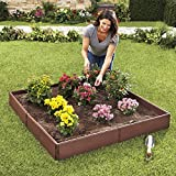 The Lakeside Collection Raised Garden Bed Set for Vegetable and Flower...