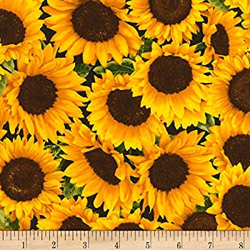 Timeless Treasures Farm Packed s Yard Sunflower