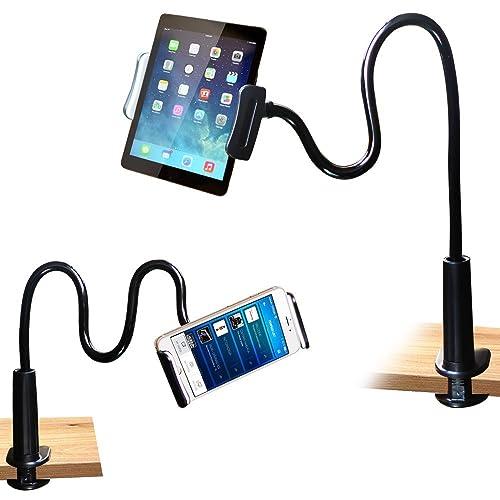FeelPower Cell Phone Stand Holder, Tablet Clip Holder,Long Arm Gooseneck Flexible Lazy Bracket