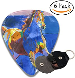 Horse 6 Pack Unique Guitar Gift For Electric Guitar,acoustic Guitar,mandolin,and Bass .46mm Celluloid Picks