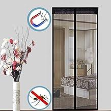 WISLKEO Moustiquaire Porte Magn/éTique Garages Baie Vitr/éE Blanc 70x190cm Animaux Accept/éS Adh/éSif Fen/êTres Coulissantes Personnalisable