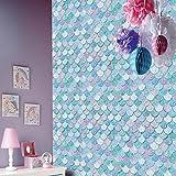 Mermaid Scales Glitter Kids Ice Blue Magical Wallpaper
