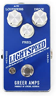 Greer Amplification Lightspeed Organic Overdrive Guitar Pedal