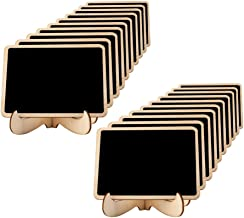 Mini Chalkboards Place Cards 3.94 X 2.95 Inch with Easel Stand and Erasable Chalk for Weddings, Party Supplies, Table Numb...