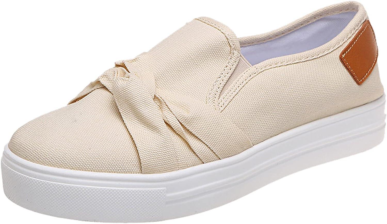 FAMOORE Women Slip On Bohemian Espadrilles Canvas Shoes Ladies C
