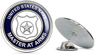 US Navy Master at Arms MA Military Veteran USA Pride Served Gift Metal 0.75