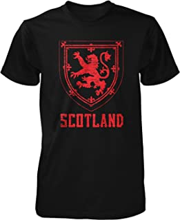 Hoodteez Scotland Coat of Arms, Crown of Scotland Men's T-Shirt