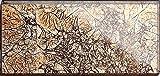 GTDE Piastrella in Vetro da Parete, Oro con Effetto Pellicola Protettiva, 7,5 x 15 cm. Spessore: 6 mm (MT0116)