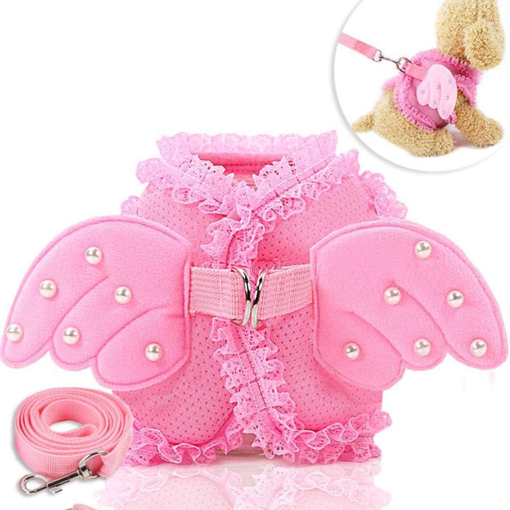 para gatos conejos cachorros Arn/és rosa para animales de compa/ñ/ía Balacoo Arn/és para perros de peque/ño tama/ño perros arn/és para gatos y correa para perros