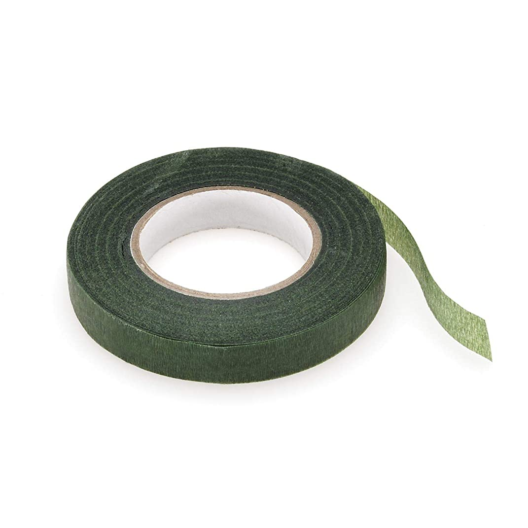 Bulk Buy: Darice DIY Crafts Floral Tape Green 1/2 inch x 30 yards (3-Pack) P35754-3