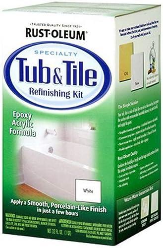 Rust-Oleum 7860519 Tub And Tile Refinishing 2-Part Kit, White, Single