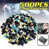 CCAUTOVIE 500PCS 30KINDS Rivet Clips Plastique, Rivets Plastiques Fixation de Protection Noir Universel pour Auto Voitures Panneaux de Portes