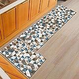 OPLJ Alfombra geométrica Lavable Antideslizante Moderna Cocina Dormitorio Sala de Estar Alfombrillas decoración del hogar alfombras de Puerta de Entrada A4 50x80 cm