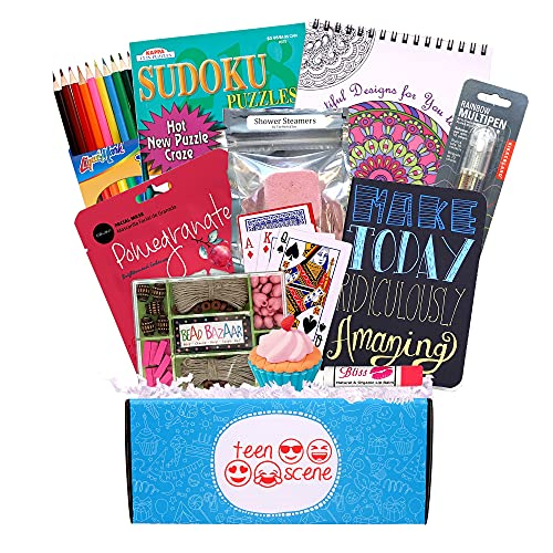 Beyond Bookmarks Teen Scene - Girl's Summer Camp Care Package or Birthday Gift Includes Fun Teen Oriented Activities and Gifts