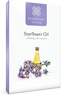 Starflower Oil 1,000mg | Healthspan | 90 Capsules | Gamma-