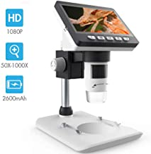 LCD Digital Microscope, SKYBASIC 4.3 inch 50X-1000X Magnification Zoom HD 1080P 2..