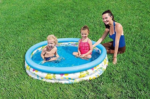 Bestway Ocean Life–Piscina, tamaño 48'x 10' colorido Ocean vida infantil piscina